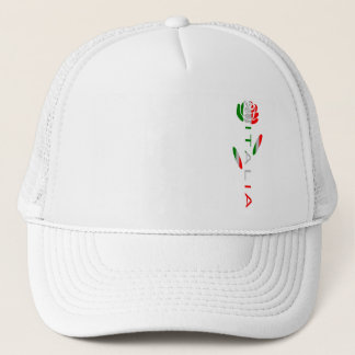 Italia Flag Rose Trucker Hat