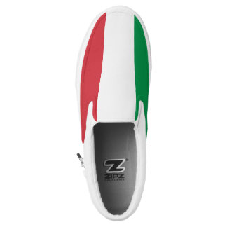 Italia Flag Slip On Shoes