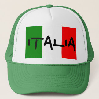Italia Italian Flag Green White Red Hat