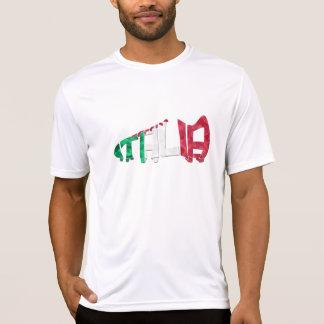 Italia Italy Soccer Calligram T-Shirt