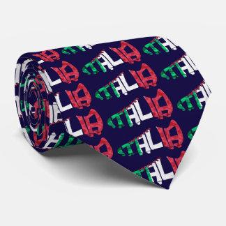 Italia Italy Soccer Calligram Tie