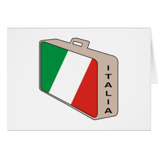 Italia Luggage Greeting Card