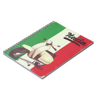 Italia Scooter Vintage travel poster Notebook