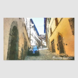 Italia Tuscany Cortona. Rectangular Sticker