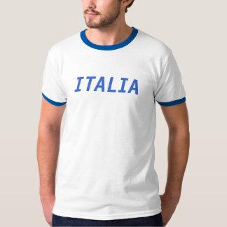 Italia White and Blue Ringer T-shirts