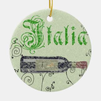 Italia Wine Bottle Ornament