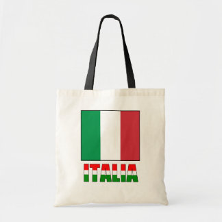 Italia With The Flag of Italy
