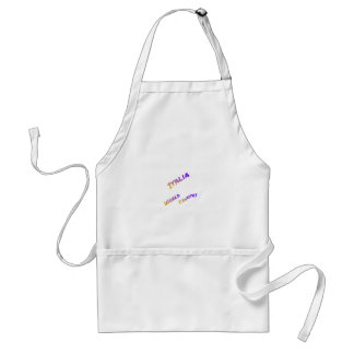 Italia world country,  colorful text art standard apron