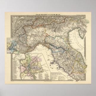 Italiae regiones IIIIXI Poster