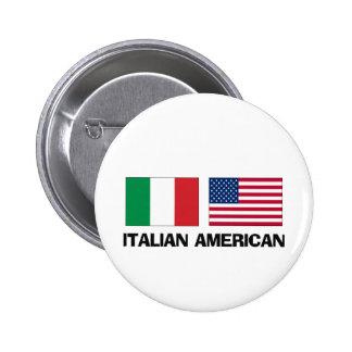 Italian American 6 Cm Round Badge