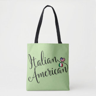 Italian American Entwined Hearts Grocery Bag