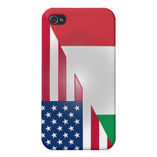Italian American Flag Sticky Apple iPad Case Case For iPhone 4