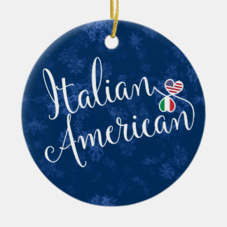 Italian American Hearts Flags Holiday Decoration