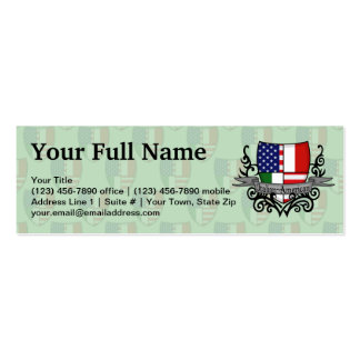 Italian-American Shield Flag Pack Of Skinny Business Cards