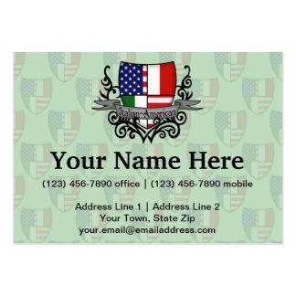 Italian-American Shield Flag Business Card