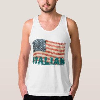 Italian American Vintage Look Singlet