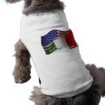 Italian-American Waving Flag Dog Tee Shirt