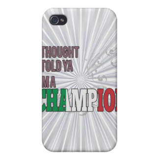 Italian and a Champion iPhone 4/4S Cases