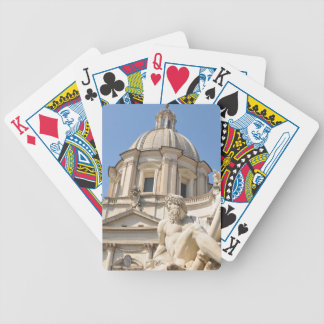 Italian architecture in Piazza Navona,Rome, Italy Bicycle Playing Cards