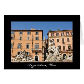 Italian architecture in Piazza Navona,Rome, Italy Card