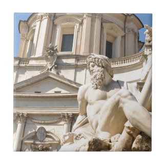 Italian architecture in Piazza Navona,Rome, Italy Ceramic Tile