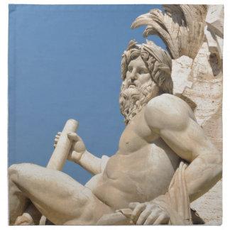 Italian architecture in Piazza Navona,Rome, Italy Napkin