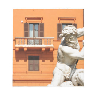 Italian architecture in Piazza Navona,Rome, Italy Notepad