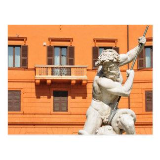 Italian architecture in Piazza Navona,Rome, Italy Postcard