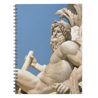 Italian architecture in Piazza Navona,Rome, Italy Spiral Notebook