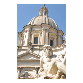 Italian architecture in Piazza Navona,Rome, Italy Stationery