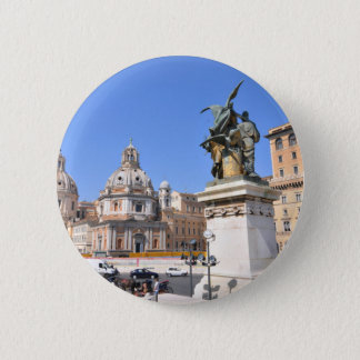 Italian architecture in Rome, Italy 6 Cm Round Badge