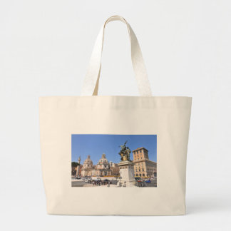 Italian architecture in Rome, Italy Large Tote Bag