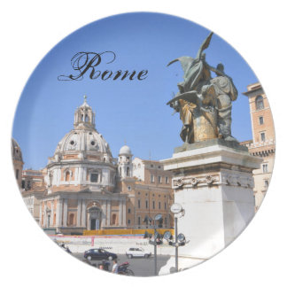 Italian architecture in Rome, Italy Plate