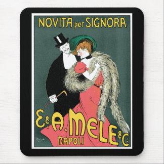 Italian Art Nouveau Fashion Ad Mouse Pad