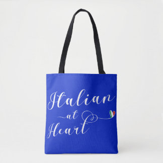 Italian At Heart Grocery Bag, Italy Tote Bag