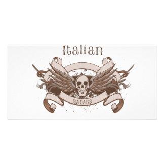 Italian Badass Personalized Photo Card