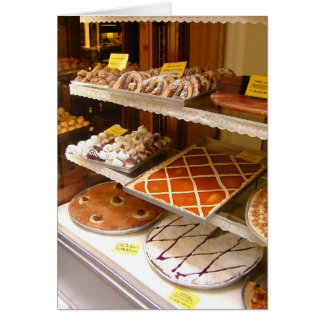 Italian Bakery Window Card