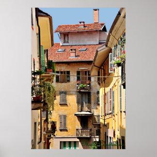 Italian Balconies Poster