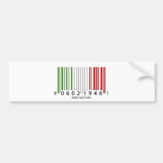 Italian Barcode Flag Bumper Sticker