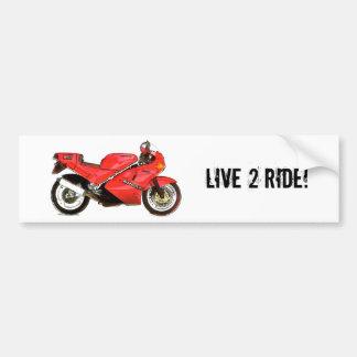 Italian Bike in Red Bumper Sticker