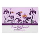 Italian Birthday Buon Compleanno! Purple Iris Card