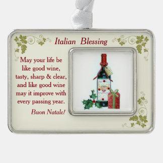 Italian Blessing Ornament 2