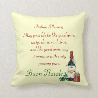 Italian Blessing Throw Pillow