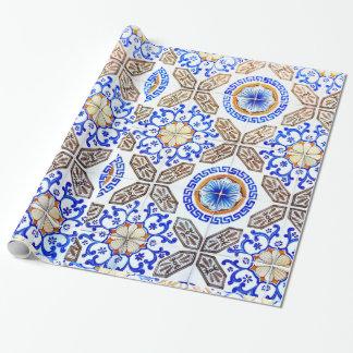 Italian Blue Mosiac Wrapping Paper