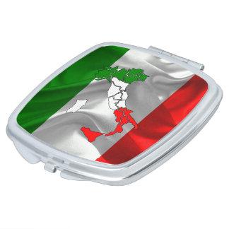 Italian boot compact mirror