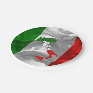 Italian boot paper plate