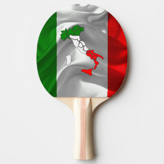 Italian boot ping pong paddle