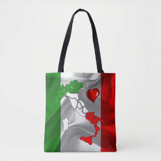 Italian boot tote bag