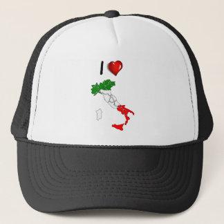 Italian boot trucker hat