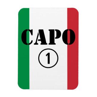 Italian Bosses Capo Numero Uno Rectangle Magnets